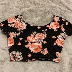 Women's floral crop top